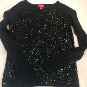 Elle Black long sleeve top
